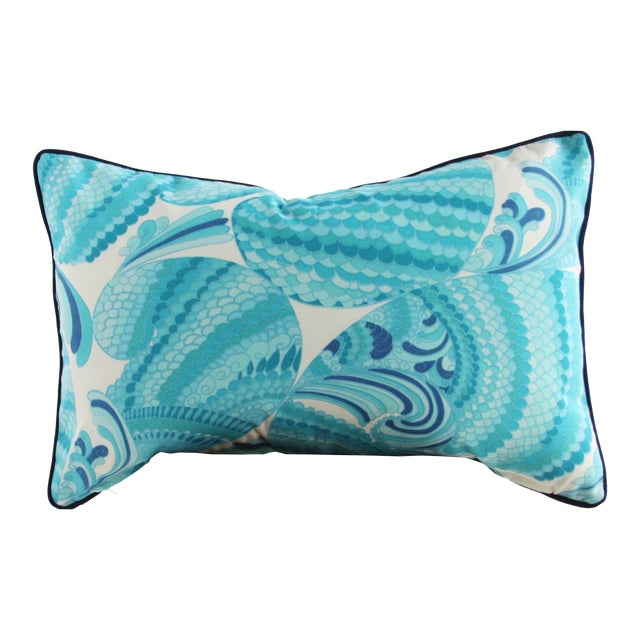 Swirl Print Outdoor Throw Pillow - Image 1 of 3
