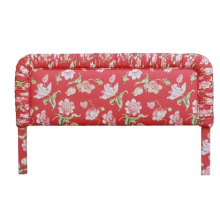 Pink Floral King Size Upholstered Headboard