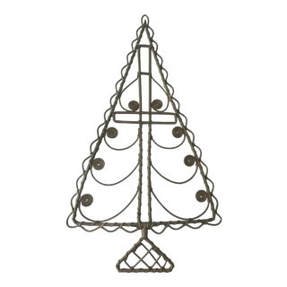 Vintage Rattan Hanging Christmas Tree For Sale