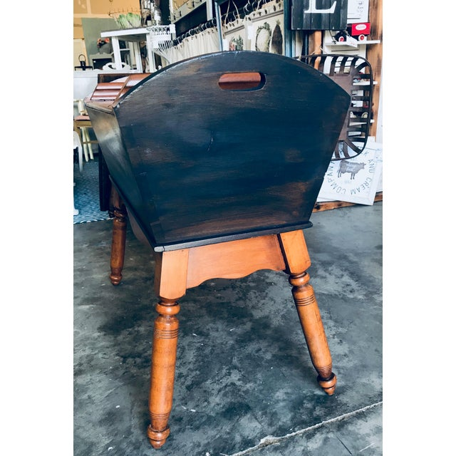 This is a gorgeous antique primitive dough box table that can be used in many rooms. The original square head nails on the...