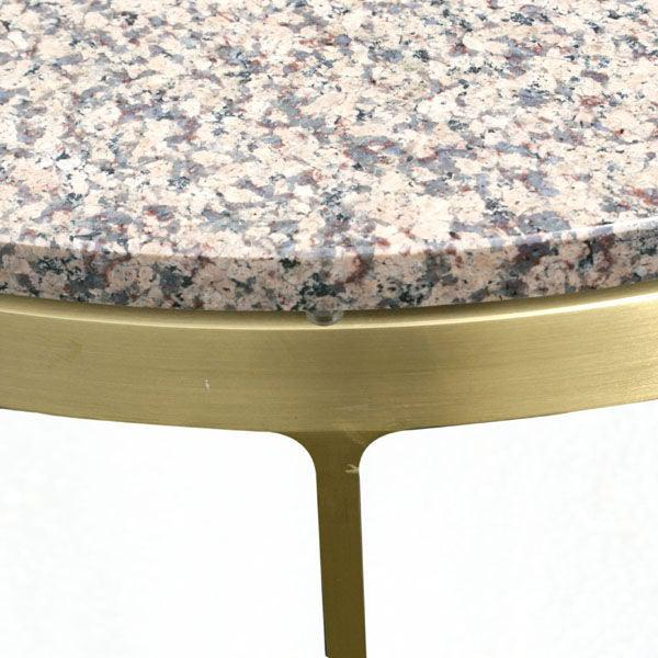 Nicos Zographos Pair of Nicos Zographos Bronze and Granite Side Tables For Sale - Image 4 of 6