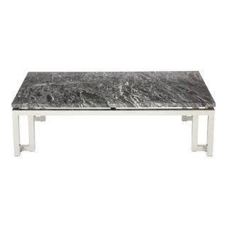 Polished chrome Greek Key Coffee Table For Sale