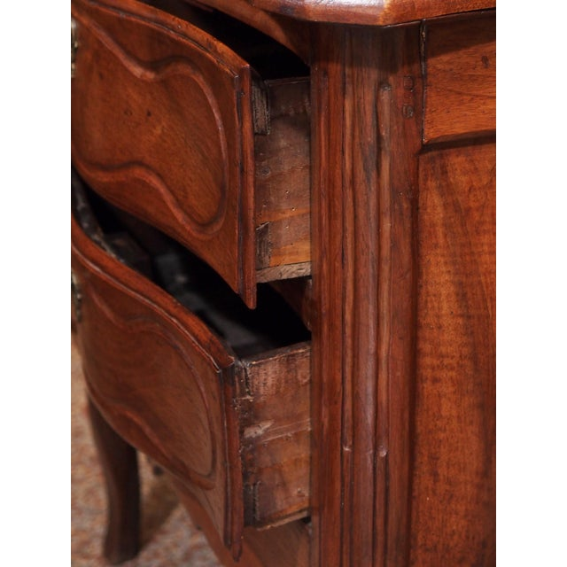 Wood 18th Century Small French Two Drawer Commode For Sale - Image 7 of 8
