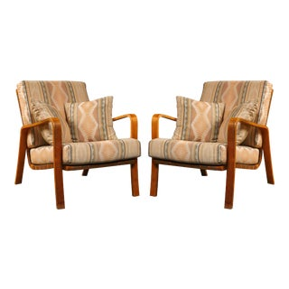 Alvar Aalto Armchairs with Cushions - A Pair