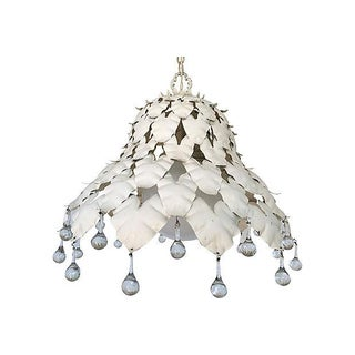 Garden Leaf Crystal Pendant Light