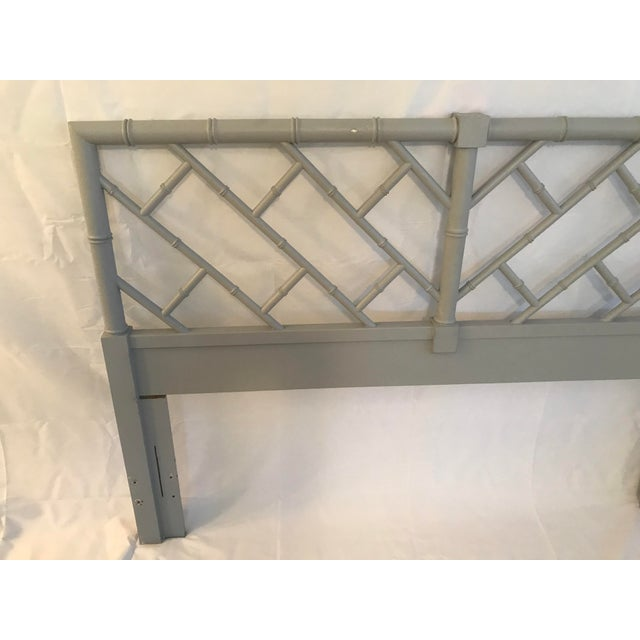 Asian Henry Link Bali Hai Chinese Chippendale Queen Fretwork Headboard For Sale - Image 3 of 9