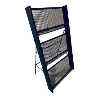 Mid Century Modern Magazine Rack Display Shelf For Sale