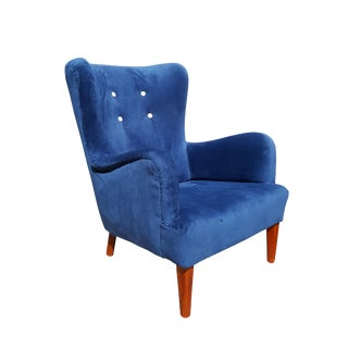 1940's A.J. Iversen Danish Wingback Chair