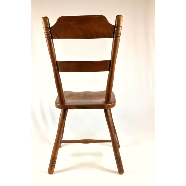 Early 18th Century Antique Myles Standish Line Wood Chair For Sale - Image 10 of 13