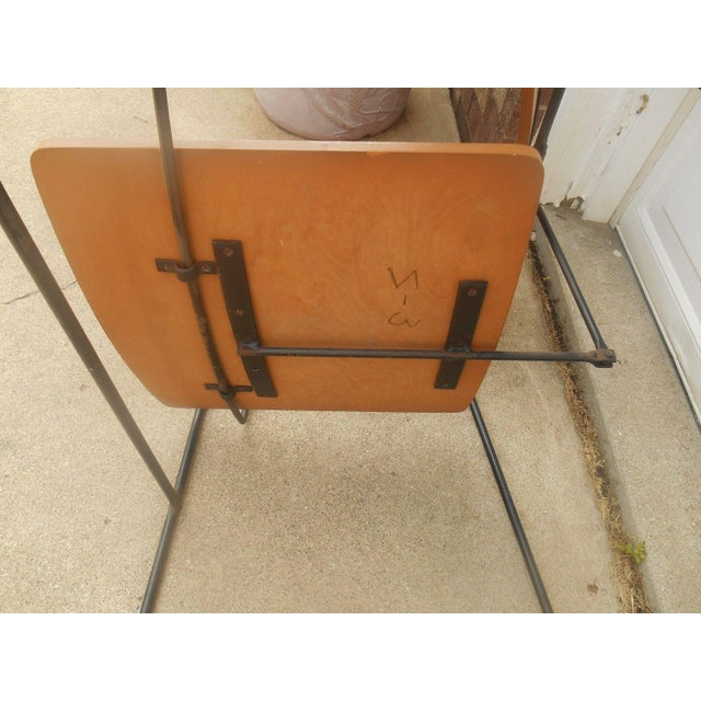 Brown Arthur Umanoff Iron & Walnut Swing Chair For Sale - Image 8 of 8
