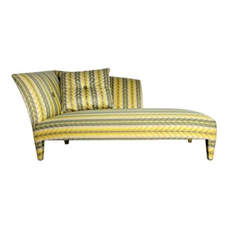 John Hutton for Donghia Spirit Stripe Chaise Lounge For Sale