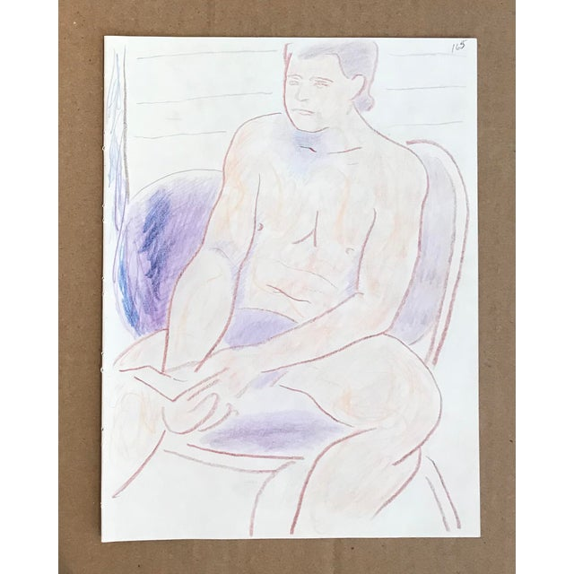 Figurative 1990s Figurative Double-Sided Drawing, Male and Female Nudes by James Frederic Bone For Sale - Image 3 of 3
