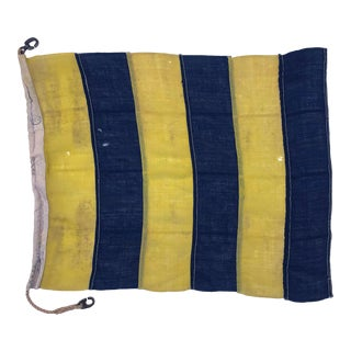 1940s Nautical Wool Signal Flag For Sale