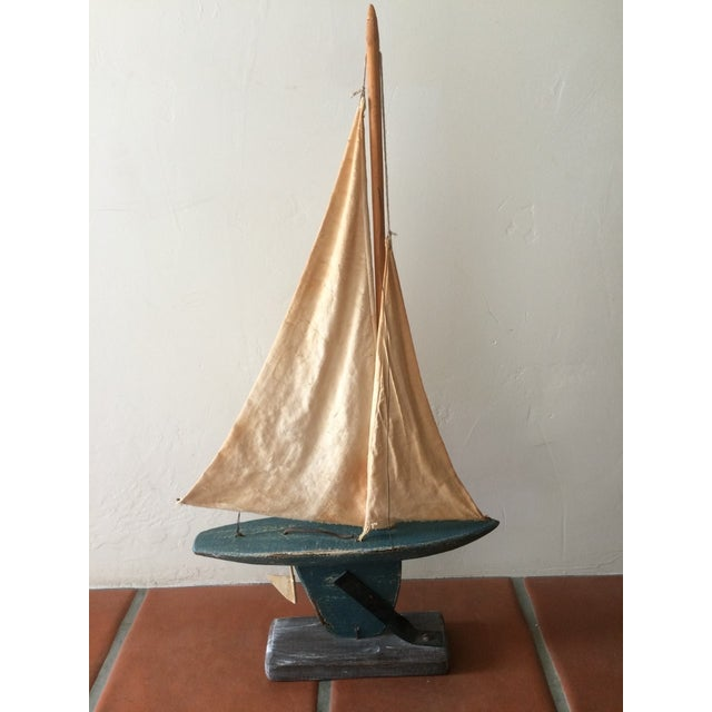 Rustic Wooden Sailboat - Image 6 of 6