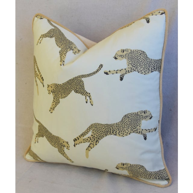 """Scalamandre Cheetah & Velvet Feather/Down Pillow 20"""" Square For Sale In Los Angeles - Image 6 of 10"""