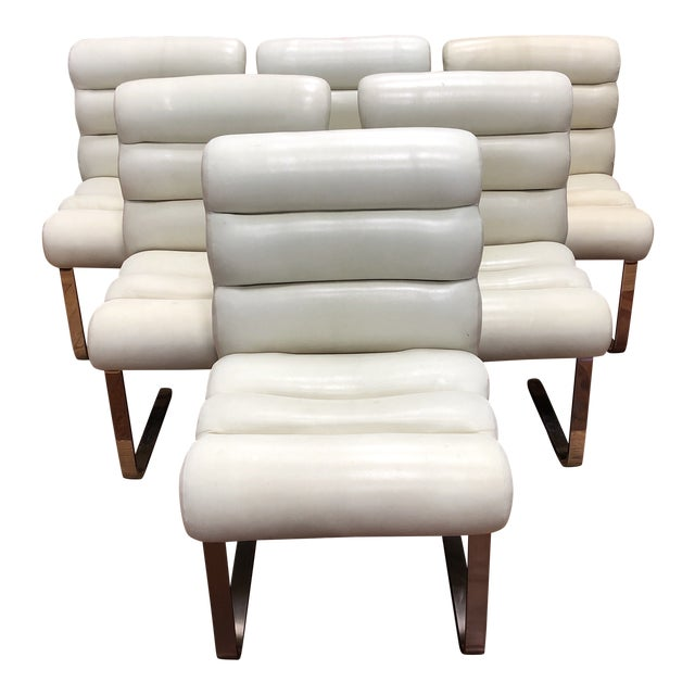Mid-20th Century Frank Mariani Pace Collection Laguna Cantilever Chairs, Set of Six For Sale