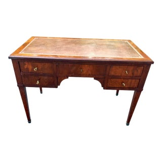 Antique Directoire Style Leather Top Writing Desk