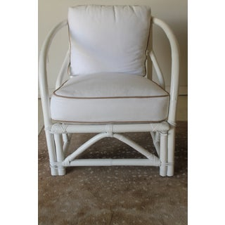 Vintage Mid Century White Bamboo Chairs - a Pair Preview