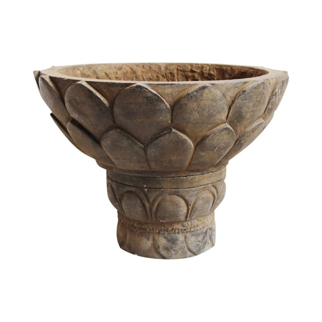 Black Stone Lotus Planter For Sale
