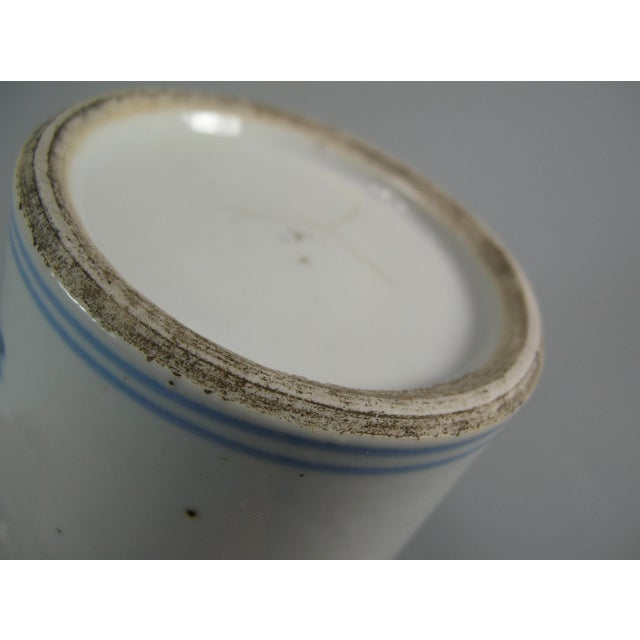 19th Century Chinese Small Blue and White Brush Pot/Bitong For Sale - Image 9 of 11