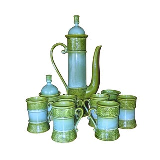 Mid-Century Ceramic Moroccan Style Teapot Service For Sale