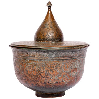 19th Century Indo Persian Tinned Copper Vessel For Sale
