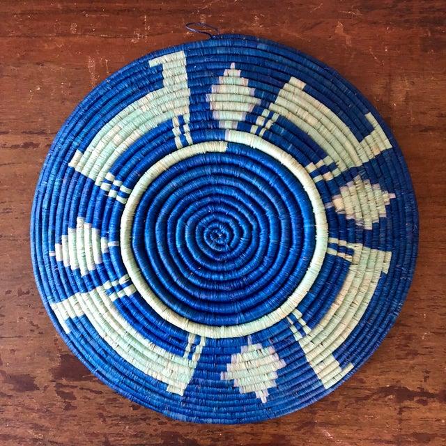 Primitive Vintage Tribal Seagrass Coiled Basket For Sale - Image 3 of 4
