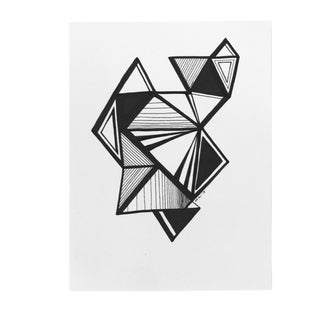 """Original Pen & Ink Drawing """"Variations on a Triangle"""" For Sale"""