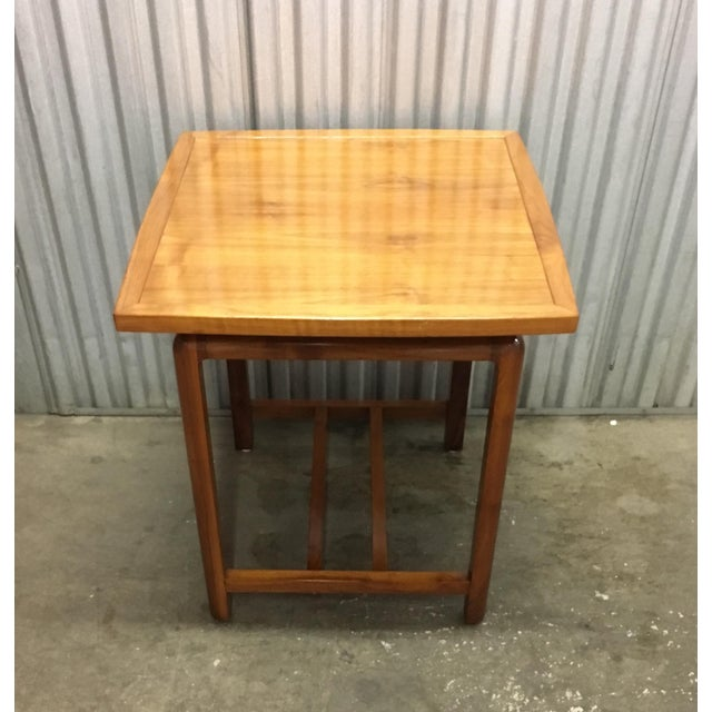Risom Style Floating Top Side Table For Sale - Image 10 of 10