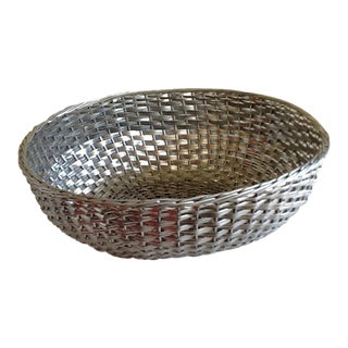 Modern Woven Metal Basket