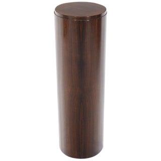 Rosewood Cylinder Pedestal For Sale
