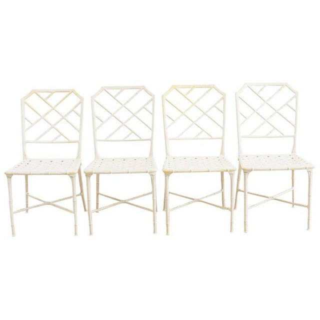 Brown Jordan Calcutta Faux Bamboo Garden Chairs For Sale - Image 13 of 13