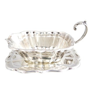 "Reed & Barton ""Windsor"" Sterling Gravy/Sauce Boat With Under Plate For Sale"