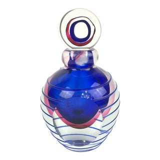 Vintage Murano Flavio Poli for Seguso Glass Perfume Bottle For Sale