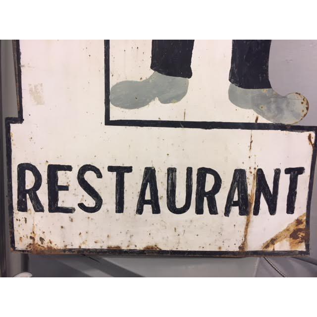 Vintage Spanish Restaurant Sign For Sale - Image 4 of 8