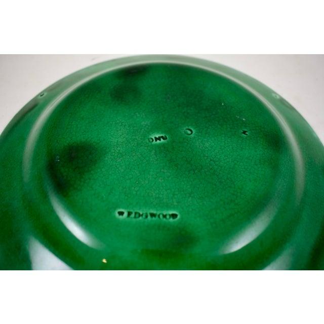 Wedgwood Majolica Green Glazed Cabbage Leaf & Basket Plate For Sale - Image 10 of 12