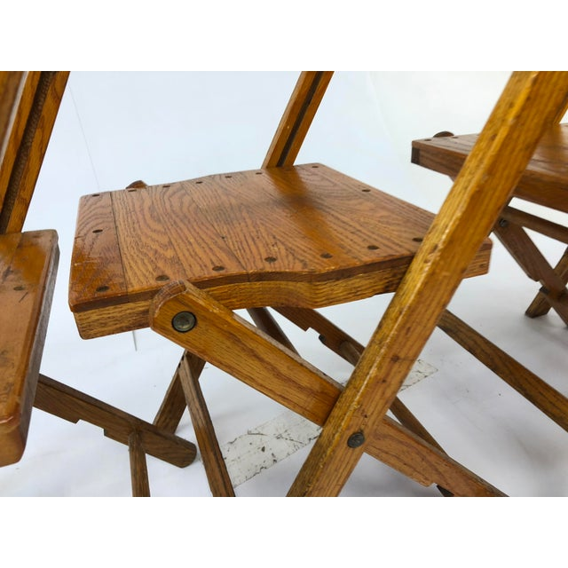 Vintage Wood Folding Chairs by Snyder - Set of 4 For Sale - Image 6 of - Vintage Wood Folding Chairs By Snyder - Set Of 4 Chairish