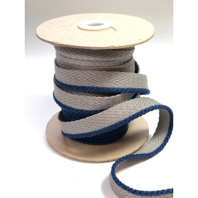 """Blue Cabled 1/8"""" Indoor/Outdoor Blue Cord Trim For Sale - Image 8 of 9"""