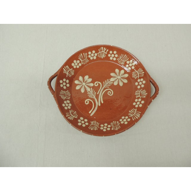 Vintage Portuguese Terracotta Serving Platter - Image 2 of 4