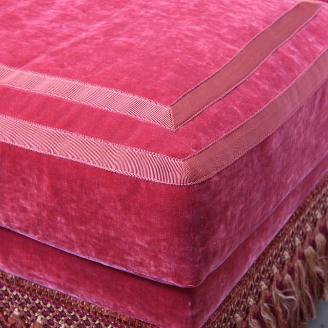 Textile Custom Banquette Right Arm For Sale - Image 7 of 10