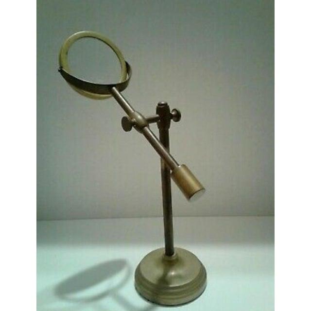 Traditional Vintage Sarreid Ltd. Brass Magnifying Glass on Adjustable Stand For Sale - Image 3 of 10