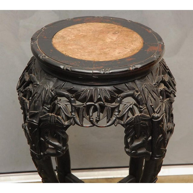 Carved Stand with Marble Inset For Sale - Image 4 of 8