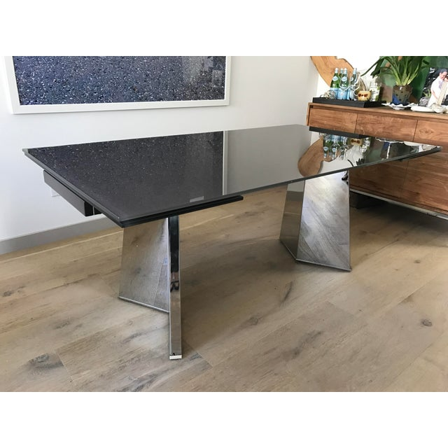 Custom Italian Modern Glass Dining Table - Image 3 of 10