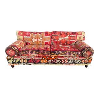 George Smith Kilim Ottoman Sofa For Sale