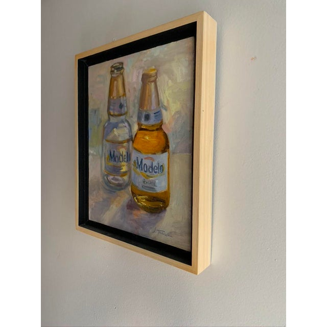 """""""Afternoon"""" Contemporary Still Life Oil Painting, Framed For Sale - Image 4 of 5"""