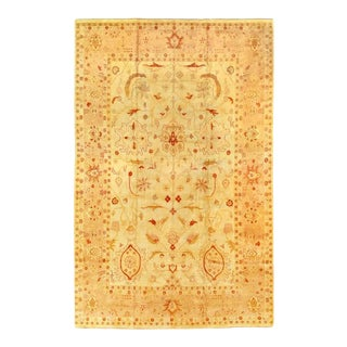 Pasargad Beige-Colored Hand-Knotted Fine Agra Rug 12' X 18' For Sale