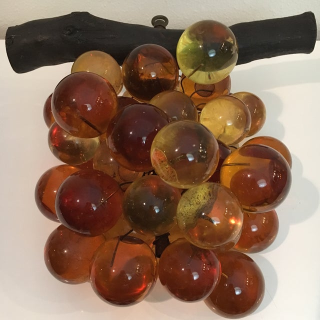 Lucite Oversized Vintage Lucite Amber Grapes For Sale - Image 7 of 7