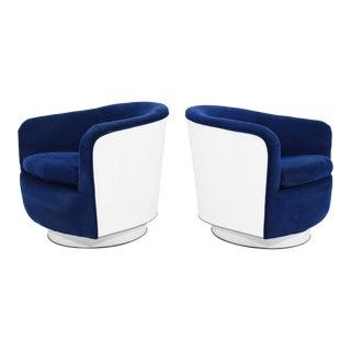 Milo Baughman Tilt/Swivel Lounge Chairs - a Pair For Sale