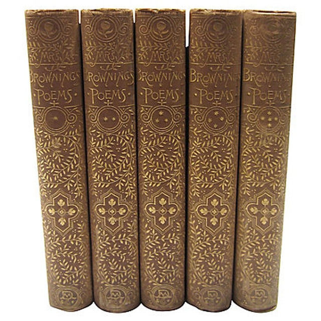 Elizabeth Barrett Browning Poetry - 5 Volumes - Image 2 of 7