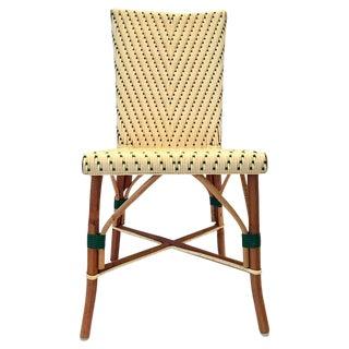 Vintage Italian Woven Rattan Bistro Chair